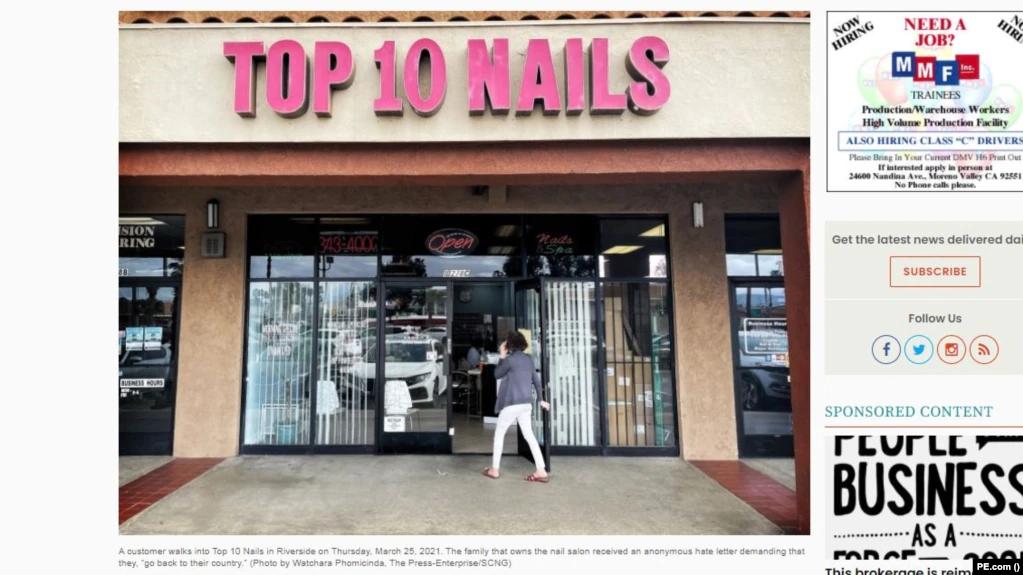 Tiệm nail Việt nhận thư nặc danh đòi họ 'cút khỏi nước Mỹ'